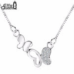 Load image into Gallery viewer, Fashion Cubic Zircon Paved Butterfly Necklace