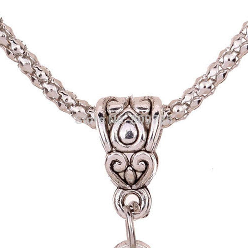 Cute Hollow Butterfly Necklace Silver Chain