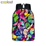 Floral School Backpack for Boys and Girls
