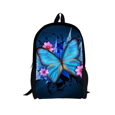 Backpack Original Butterfly Flower Print