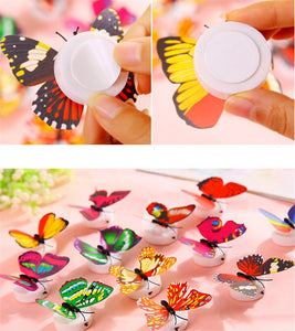 10 PCS 3D Wall Stickers Lifelike Butterfly Powered LED Lights