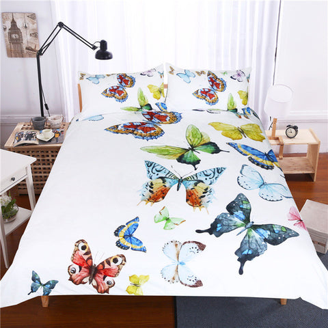 Bedding Set Outlet 3 Pieces Flying Butterflies