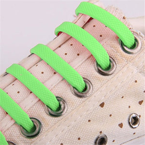 12PCs/ Pack No Tie Shoelaces Elastic Silicone 8 Colors