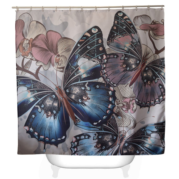 Butterfly Shower Curtains Bath 71x71