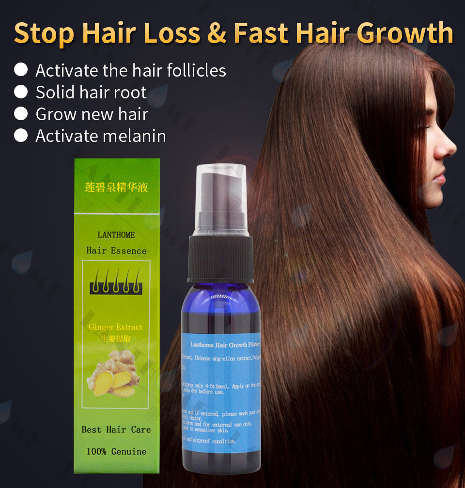 3pcs Lanthome Unisex Hair Loss Treatment Hair Spray Ginger Extract