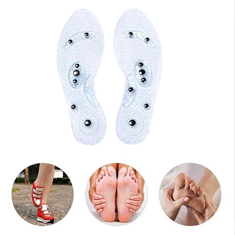 Gel Insoles Feet Magnetic Therapy