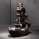 Load image into Gallery viewer, Ceramic Dragon Incense Burner + 20Pcs Incense Cones