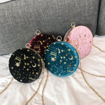 Load image into Gallery viewer, Starry sky circular shoulder bag