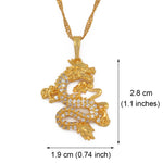 Load image into Gallery viewer, Dragon Pendant Necklaces. Your Lucky Symbol