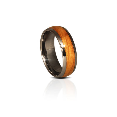 Tungsten Holy Land Olive Wood Ring (6 & 8mm Wide)