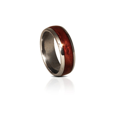 Tungsten Redwood Wood Ring  (6 & 8mm Wide)