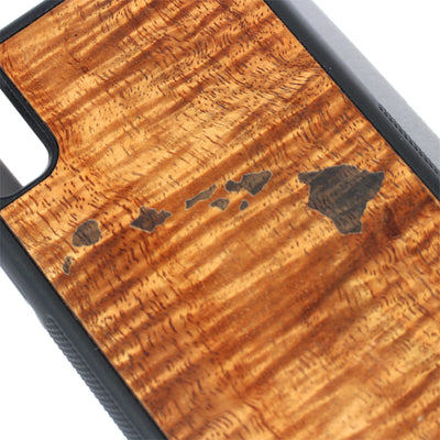 Koa Wood Phone Case, Hawaiian Islands Design, All Models
