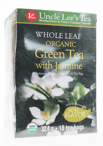 Whole Leaf, Organic Green Tea with Jasmine