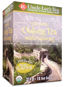 Whole Leaf, Organic Ginseng Oolong Tea