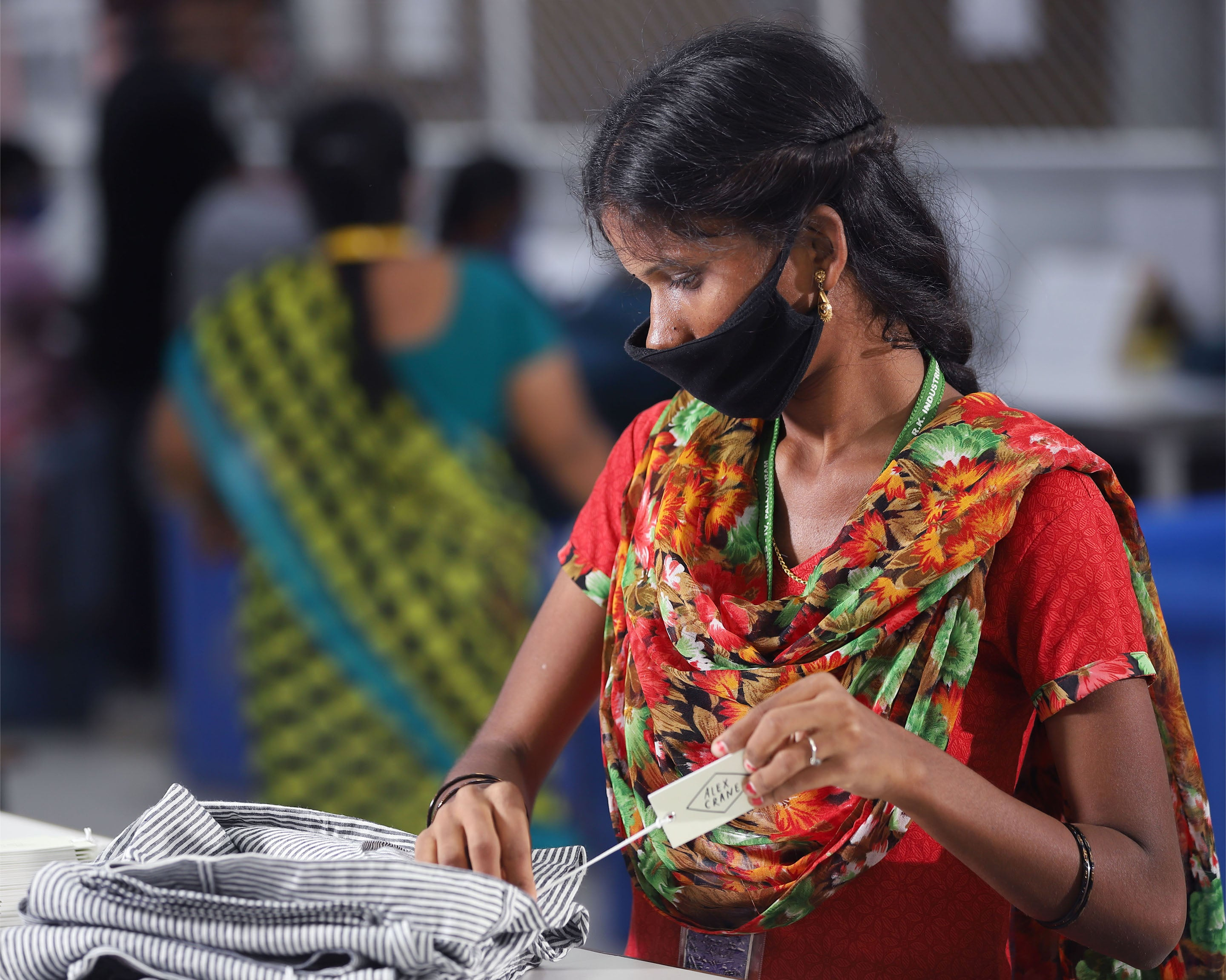 Once woven and dyed, we send the fabric to our cut-and-sew facility in Chennai, a 40-year-old factory near the sea
