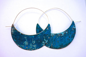 Large Copper Patina Hoops Wholesale
