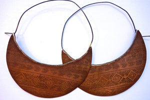 Large Copper Tribal Hoops Wholesale
