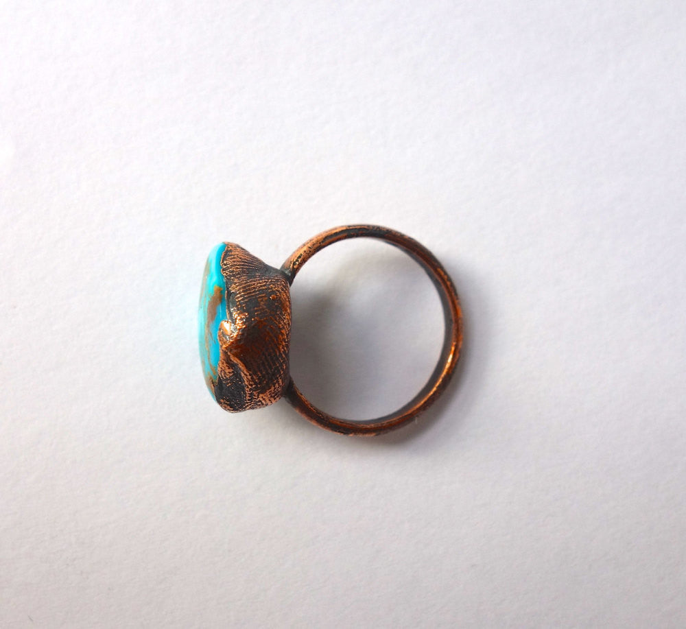 Turquoise and Copper Southwestern Ring