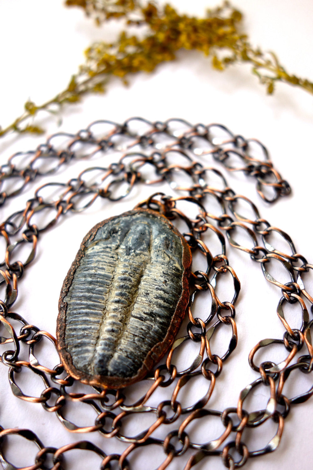 Real Trilobite Fossil Copper Necklace Wholesale