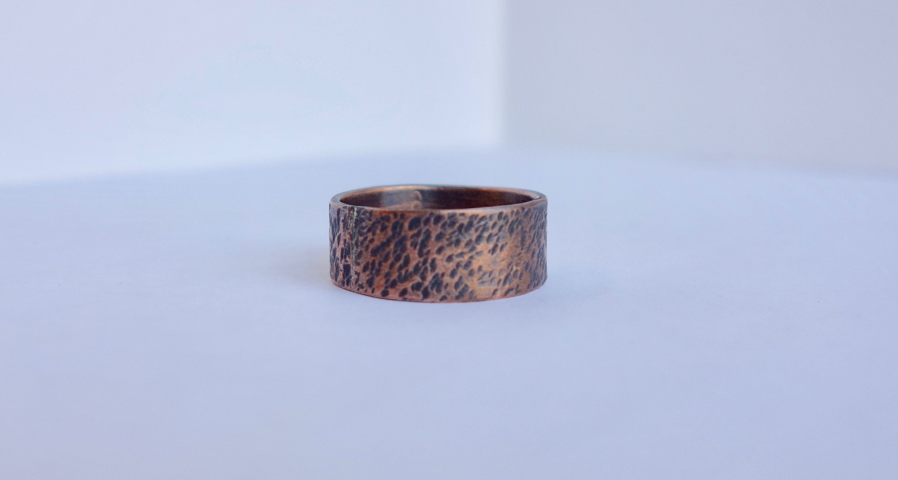Copper Textured Band Ring