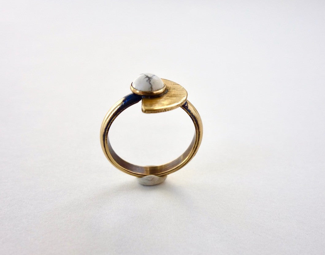 Small Eclipse Half Moon Ring