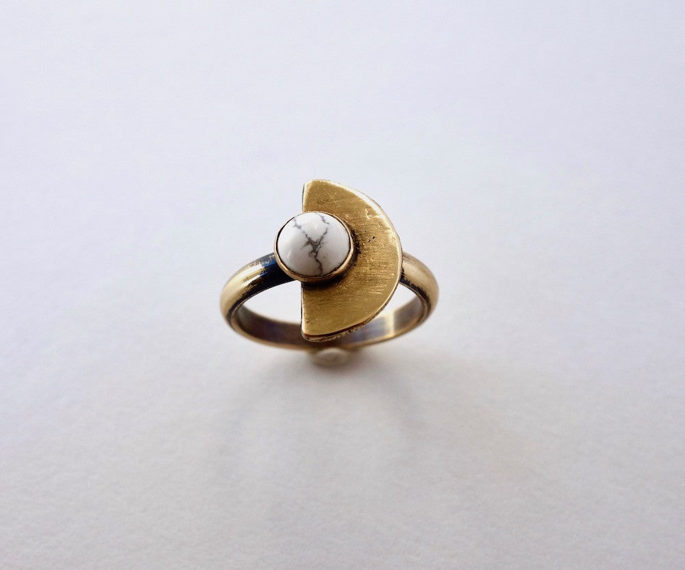 Small Eclipse Half Moon Ring Wholesale