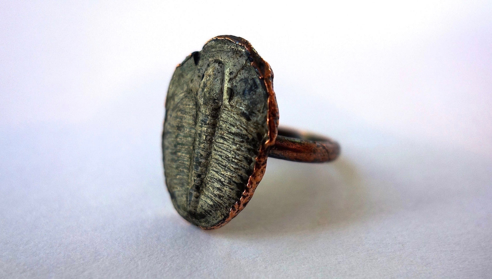 Trilobite and Copper Ring