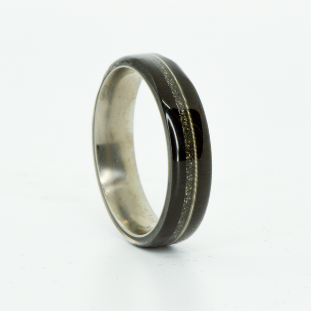 SALE RING -  Titanium, Blackwood, Guitar, & Meteorite - Size 10.75