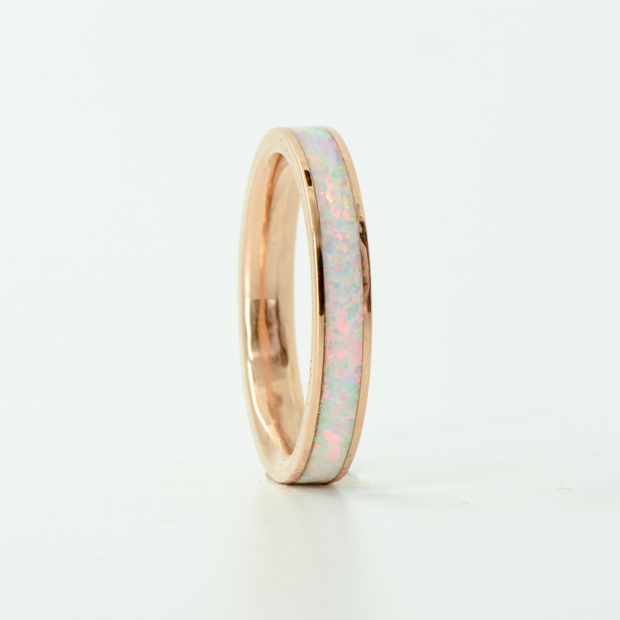 SALE RING - Rose Gold & White Opal - Size 9