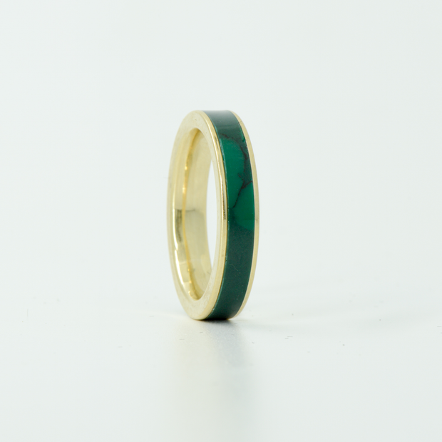 SALE RING - Yellow Gold & Imperial Jade - Size 5