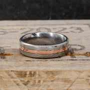 Damascus Steel & Silver or Gold 6mm
