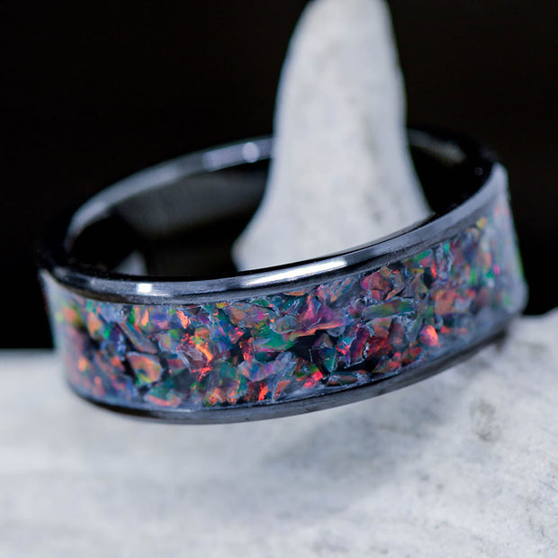 German Black Opal in Tungsten or Ceramic Channel ***