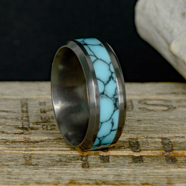 Black Zirconium with Turquoise