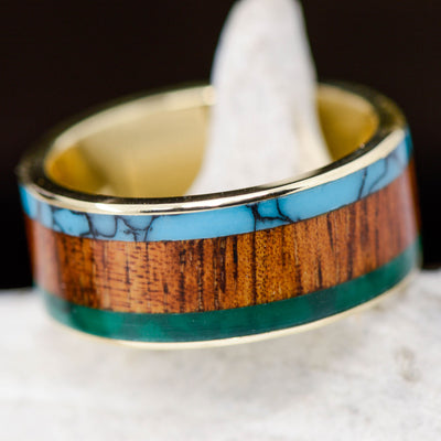 Turquoise, Koa Wood, & Imperial Jade Channel ***
