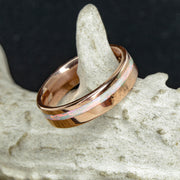 Rose Gold with Offset White Opal