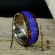 Rosewood & Thick Blue Lapis Lazuli 10mm