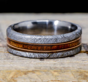Etched Gibeon Meteorite, Koa Wood, & Guitar Strings 8mm