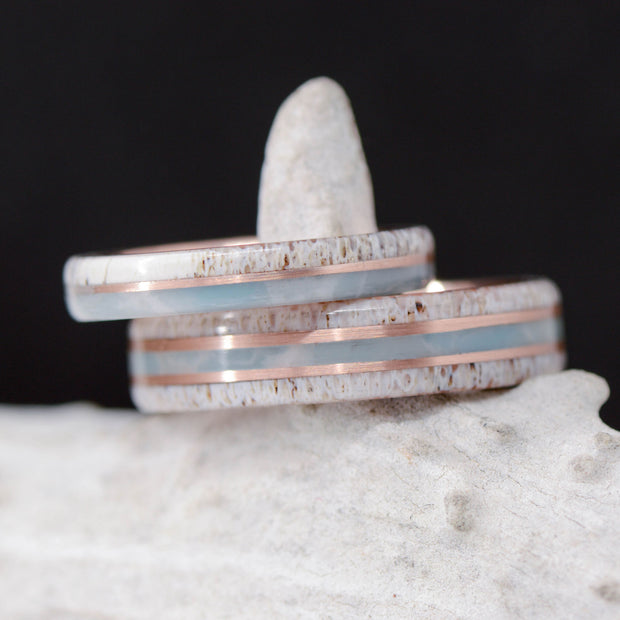 Antler, Larimar, & Rose Gold Pinstripes