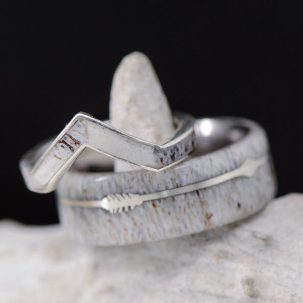 Antler, Silver Arrow Pinstripes, & Metal V-Ring