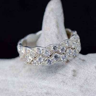 Eternity Band with Round Moissanite Diamond Settings