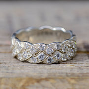 Eternity Band with Round Moissanite Settings