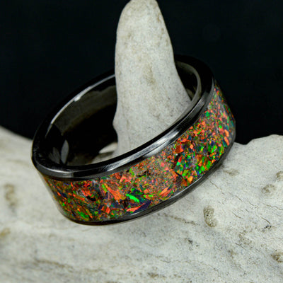 Black Opal in Tungsten or Ceramic Channel ***
