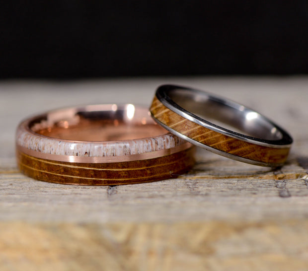 Antler, Rose Gold, & Jack Daniels Barrel Wood 6mm