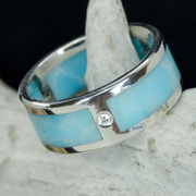 Larimar and Moissanites