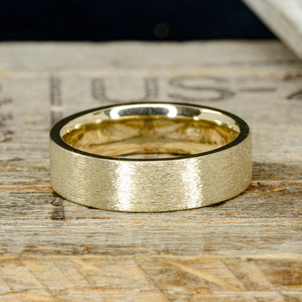 Brushed Gold Band 6mm ***