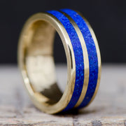 Gold with Blue Lapis Lazuli Double Channel ***