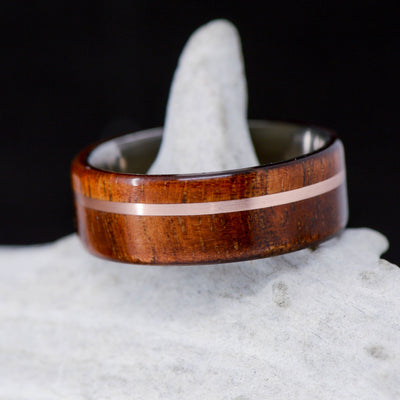 Koa Wood & Offset Rose Gold ***