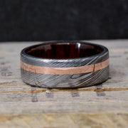 Damascus Steel, Rose Gold, & Walnut Wood ***