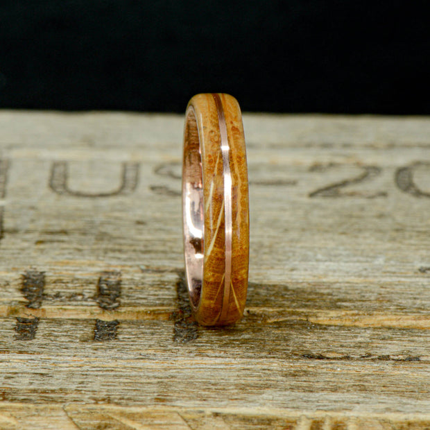 Rose Gold & Jack Daniels Barrel Wood