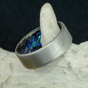 Abalone Shell in Matte Damascus Steel